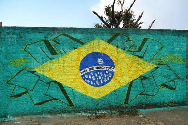 Brazils Anti FIFA Graffiti Ahead Of The World Cup 53860faa38871