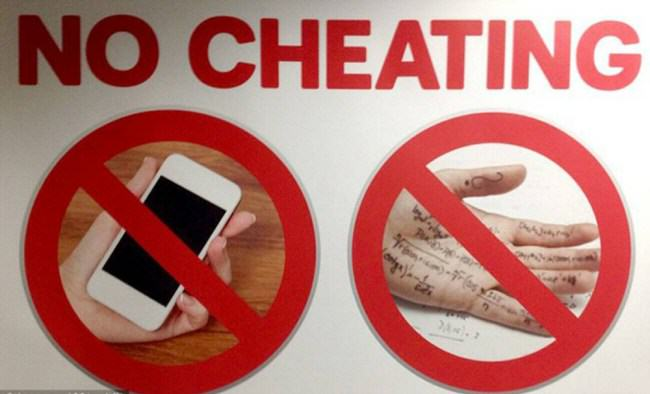 ad 133841213 e1399139960953 Uni Put Up Anti Cheating Posters That Helped Students Cheat