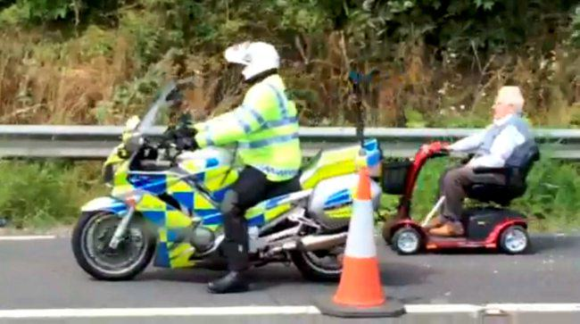 OAP Spotted Rolling Deep Down M1 Motorway Hard Shoulder ad142049467picture shows a
