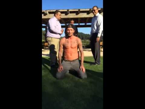 beckham does ice bucket challeng