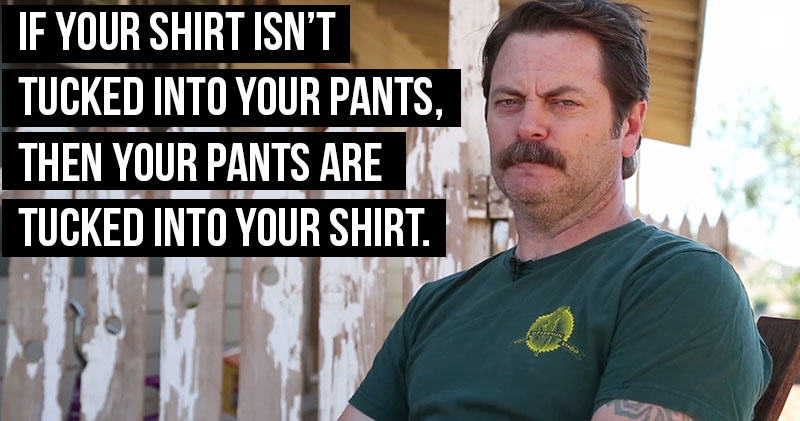 nickoff Nick Offerman's Shower Thoughts Are Absolute Genius