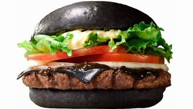 burger Japanese Burger King Launches Black Cheeseburger