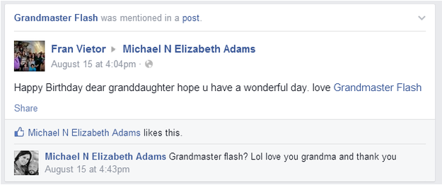 Grandmas Keep Tagging Themselves As Grandmaster Flash On Facebook gandma1