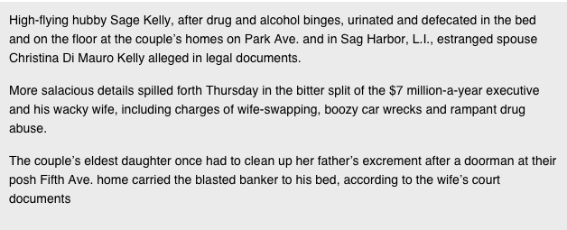 15 Divorce Papers Of NYC Banker Read Like Real Life Wolf Of Wall Street