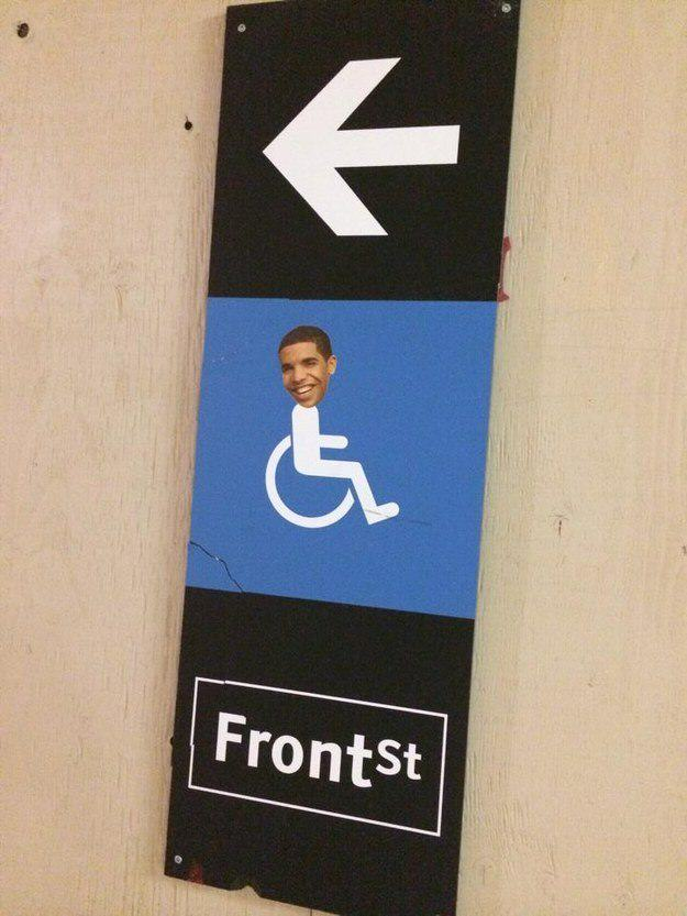 draking 4 Putting Drakes Face On Handicap Signs Is Now Called Draking