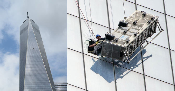 252 Window Cleaners Left Hanging 1800 Feet Up The One World Trade Center