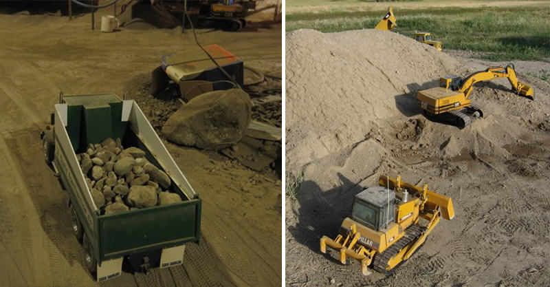280 Guy Spends 9 Years Digging Out Basement With Remote Controlled Diggers