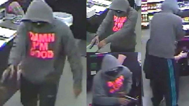 5 Man Successfully Robs Shop Wearing Hoodie With 'Damn I'm Good' On It