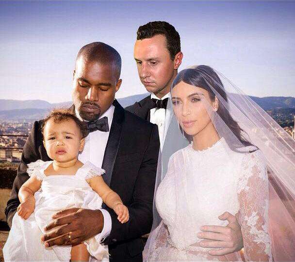 FKQkkub Lad Perfectly Photoshops Himself Into Family Photos Of Kim And Kanye