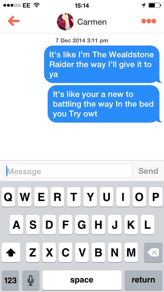 10849743 10152542279202634 2384718887834885427 n Lads Using Terrible Rap Lyrics On Tinder Is Now A Thing