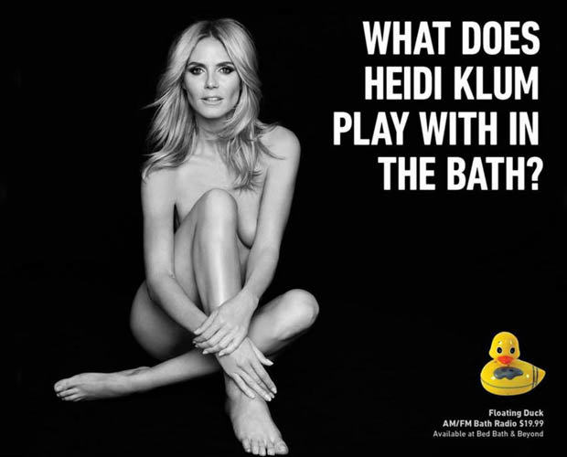 179025 Heidi Klum Advert Banned Because It Showed Too Much Underboob