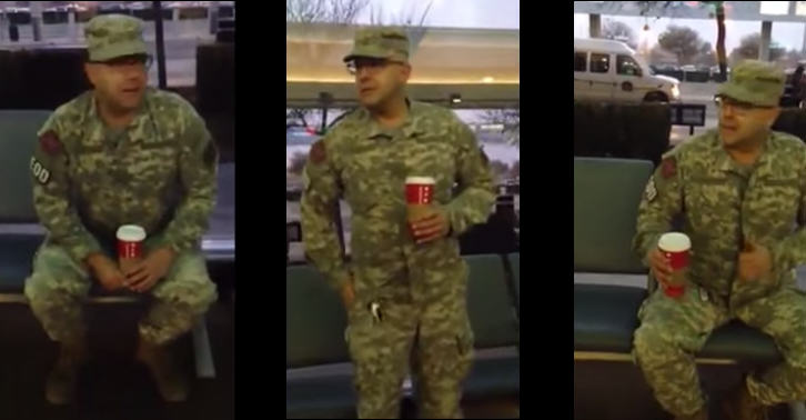180 Man Impersonating Soldier At Airport Is Confronted By Ex Veteran