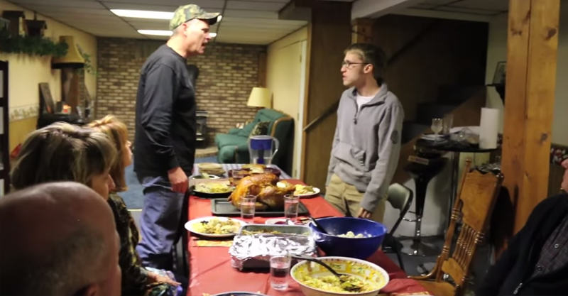 22 Psycho Kid Loses His Sh*t, Ruins Familys Thanksgiving Dinner