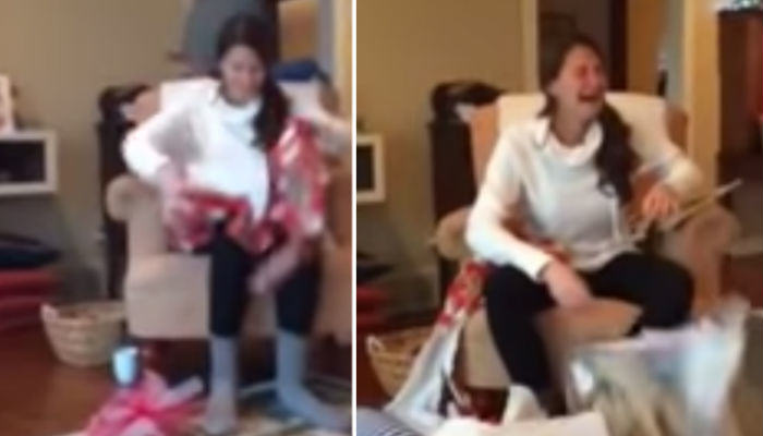 present 2 web thumb Girl Completely Loses It After Being Proposed To On Christmas Day