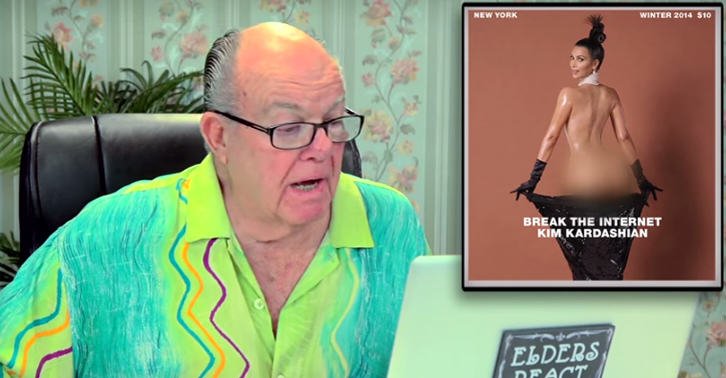 1 Old People React To Kim Kardashians Nude Cover Shoot