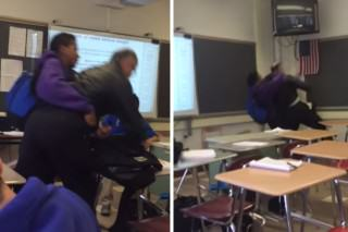 Student Bodyslams His Teacher For Confiscating His Phone