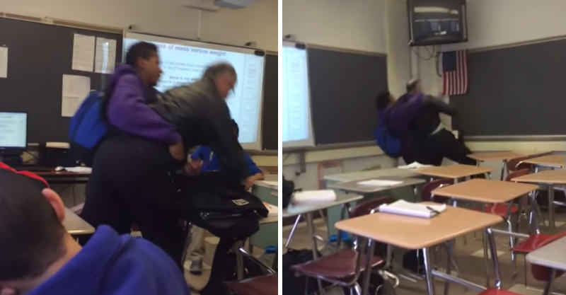 160 Student Bodyslams His Teacher For Confiscating His Phone