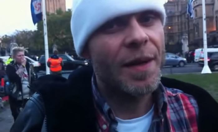 Brian Harvey at Occupy Demo GQ 23Oct14 b e1422193077584