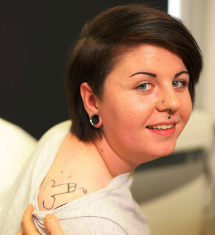 cock tattoo Woman Wakes Up From Party With A Dick Tattoo, Obviously