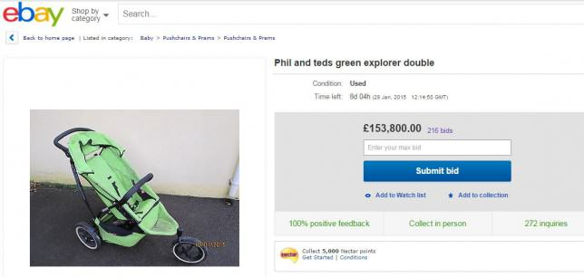 ebayul Fed Up Dad Puts Kids Buggy On eBay, Gets A £150K Bid