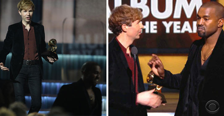 115 Beyonce Loses To Beck At Grammys, Kanye Storms Stage Again