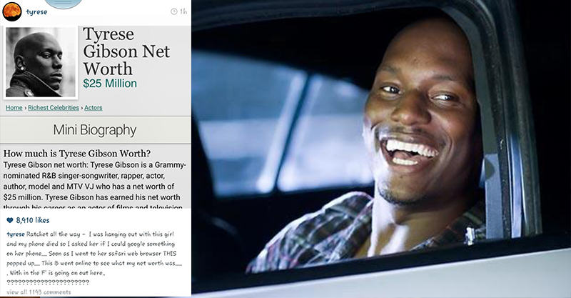 134 Tyrese Gibson Catches His Date Googling His Net Worth