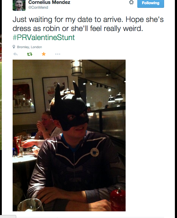 8 Lad Goes On Pizza Express Date Dressed As Batman For A Bet
