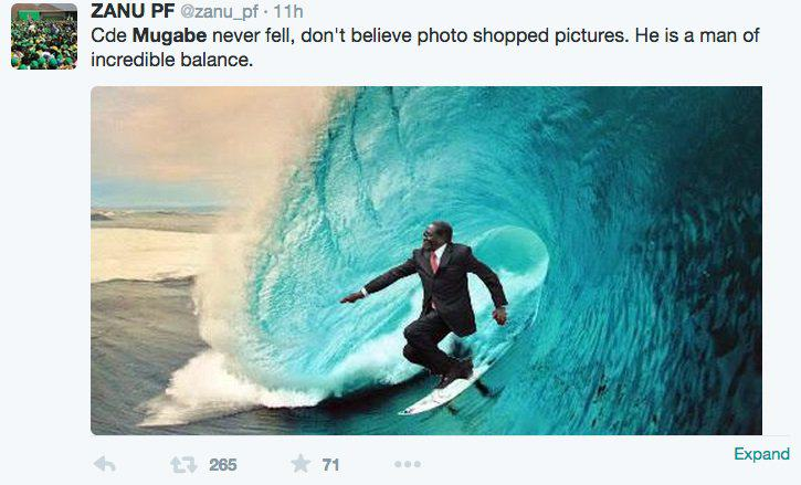 Surf Robert Mugabe Fell Over Today And The Internet Reacted