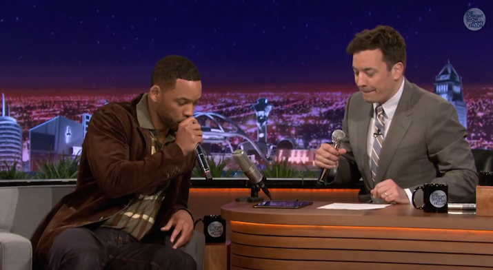 Will Smith Jimmy Fallon It Takes Two Beatbox Rap Will Smith Beatboxing And Rapping With Jimmy Fallon