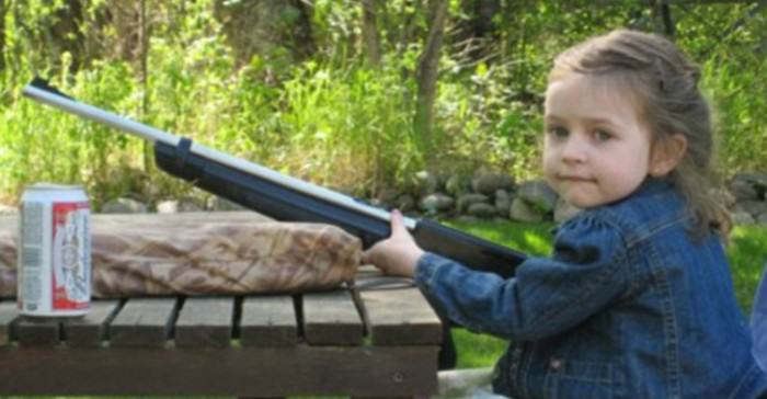 Little Girl Left At Home Deals With Burglars With A Shotgun Worst Parents Gun Beer e1422992001403