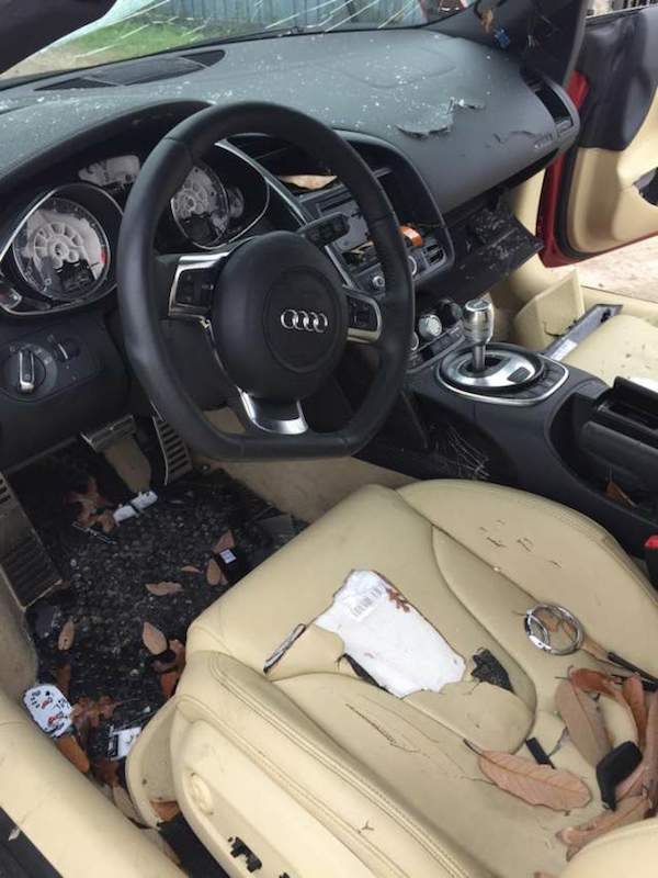 a31 Woman Completely Trashes Cheating Husbands £100K Audi R8
