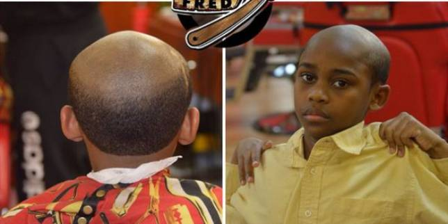 oldman Naughty Kid? This Barber Will Give Him An Old Man Haircut