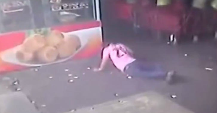 on the floor Watch This Idiot Try To Kick A Dog, And Enjoy What Happens