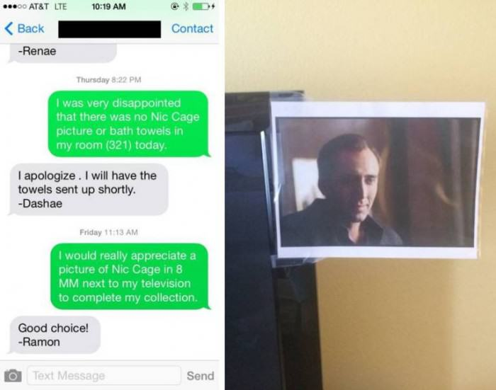 Girl Requests Nicolas Cage In Her Hotel Room, Gets Exactly That That pic 3 e1423076968969