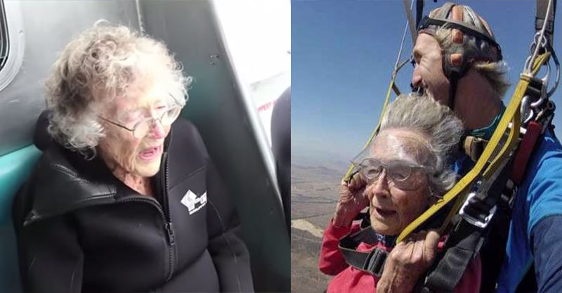 162 100 Year Old Granny Swims With Sharks After Epic Skydive