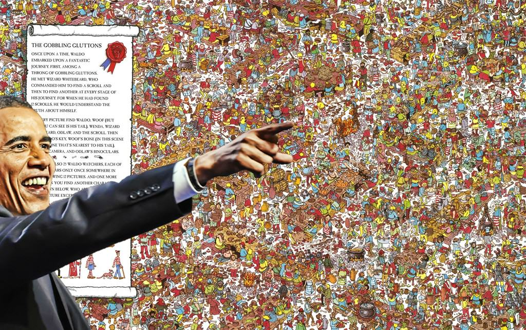 24 Obama Pointing Out Wheres Wally Because Internet