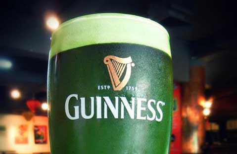 Celebrating St. Patricks Day, For Those Pretending To Be Irish Green Guinness