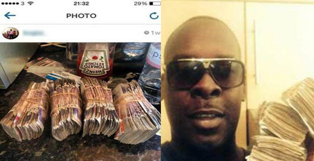 idiot Moronic Drug Dealer Posts Pictures Of Money And Drugs On Instagram