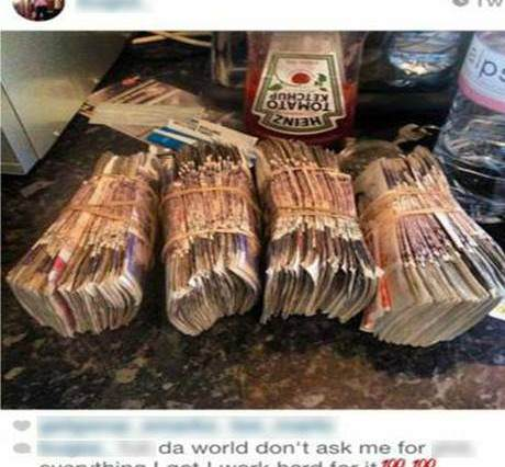 idiot1 460x426 Moronic Drug Dealer Posts Pictures Of Money And Drugs On Instagram