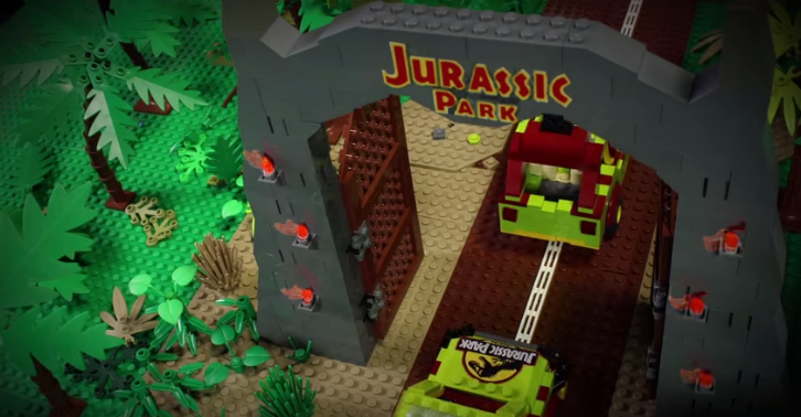kopium A Father And His Daughter Remake Jurassic Park Using $100,000 Worth Of Lego   And Its EPIC
