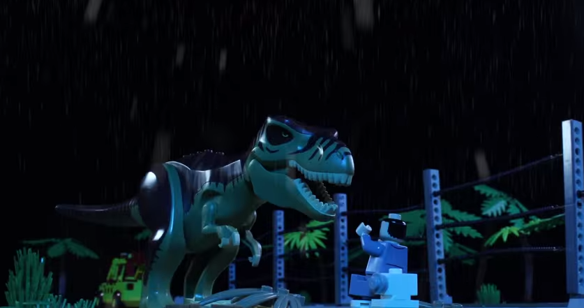 lo0i9uyg A Father And His Daughter Remake Jurassic Park Using $100,000 Worth Of Lego   And Its EPIC