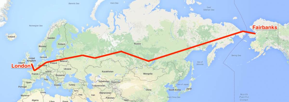 Russia Are Planning A Trans Eurasion Corridor For Trains And Cars, From London To Alaska okijuhyg