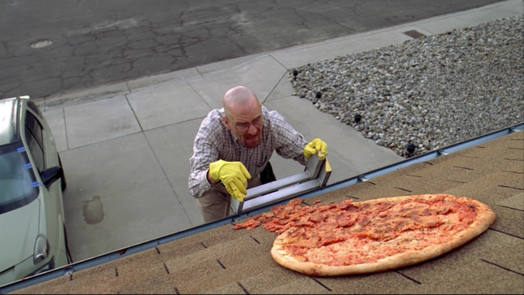 People Are Still Throwing Pizza On Walter Whites Roof origin Interesanti fakti par 4