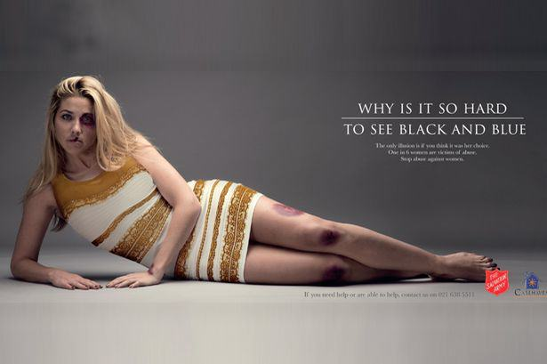 Salvation Army Post Strong Domestic Violence Ad Featuring The Dress salvation army ad