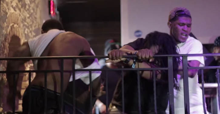 Hustle Simmons Takes On 3 Of Bleu Davincis People In Stage Brawl At SXSW tfgbhnjmk1