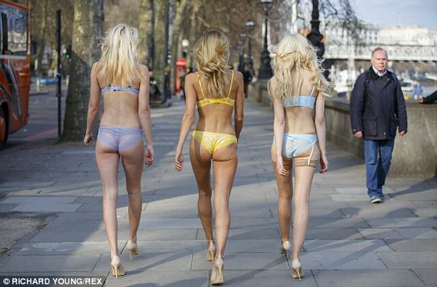 underwear Half Dressed Blonde Girls Walking Around? Ticket To London Please