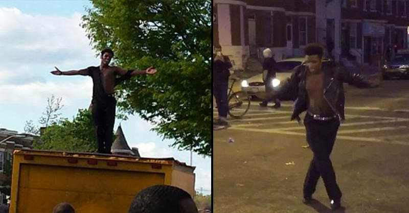 1119 One Guy Danced To Michael Jacksons Beat It During Baltimore Riots