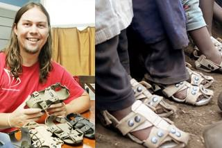 Man Creates Shoes That Grow So Poor Kids Don't Outgrow Them