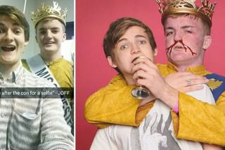Lad That Looks Identical To King Joffrey Meets The Real Deal