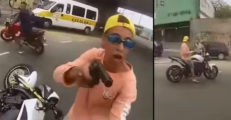 Watch This Thief Get Shot As He Tries To Steal Mans Motorbike 167